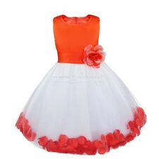 Petals Flower Girl Kids Pageant Wedding Formal Bridesmaid Party Princess Dress