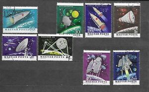 Hungary 1964 Achievements in Space Research CNH SC # 1562-1569
