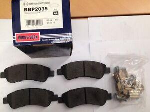 Borg & Beck brake disc pads Fiat Ducato