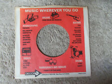 sleeve only DECCA CORAL ORGANS BONGOS 45 record company sleeve only    45