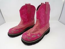 Roper Pink cowboy boots rhinestones western  SIZE 6-1/2 womens 332