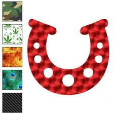 Lucky Horse Shoe Horseshoe Decal Sticker Choose Pattern + Size #4027