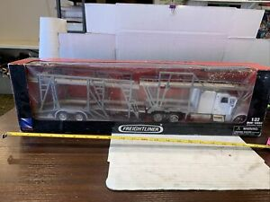 """NEW-RAY Freightliner Classic XL Auto Carrier Cab White New Sealed 23"""""""