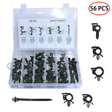 Car Wire Harness Routing Clip 56 PCS Assortment Kit Retainer For Honda