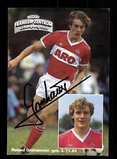 Roland Grahammer AUTOGRAFO carta 1 FC Norimberga 1983-84 original sign + a 64324