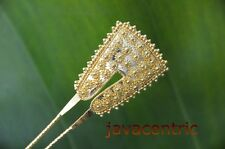 Handmade golden Java HAIR JEWELRY PIN PICK FORK Wedding ornamant ethnic artisan