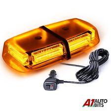 Magnetic 12v Amber Glass Led Vehicle Roof Lightbar Flashing Beacon Strobe Light