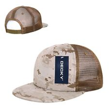 Desert Camo Camouflage Mesh Flat Bill Military Marines Trucker Baseball Cap Hat