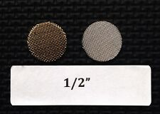 "1/2"" tobacco pipe screen filters - stainless steel - 25 count - high quality!"