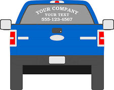 Truck Window Lettering Truck Van SUV  Lettering Decals Business Decal