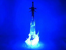 World of Warcraft Frostmourne Lichking Sad Sword Figure Blue Light W/ Box 28CM