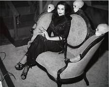 Vampira with skulls Horror 1950's 8x10 Glossy Photo