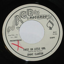 "Jimmy Clanton 7"" 45 PROMO HEAR Twist On Little Girl ACE Wayward Love"