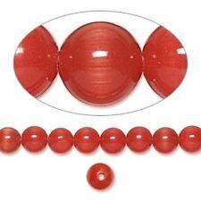 Cat's Eye 6mm Red /Orange 50 Beads