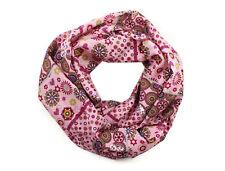Damen-Rundschal Loop Patchwork rosa lila ca. 25 cm x 140 cm