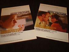 BROKEBACK MOUNTAIN 2 Oscar ads Heath Ledger as Ennis, Michelle Williams, Ang Lee