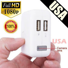 Mini 1080P USB Wall Charger Spy Hidden Camera DVR Recorder Motion Detection US