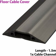 1.5m x 68mm Heavy Duty Rubber Floor Cable Cover Protector-Conduit Tunnel Sleeve