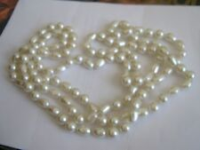 "72"" Large Pearl Necklace , Vintage"