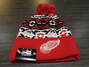 Detroit Red Wings Cap Hat NHL Hockey New Era Beanie Toque Retro OSFM Chill Knit