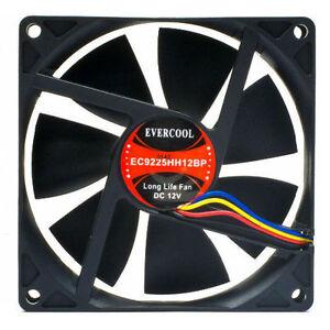 Evercool  92mm x 25mm 12v High Speed 4pin PWM Cooling Fan EC9225HH12BP