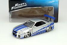 NISSAN SKYLINE GT-R (R34) de la película 2 FAST 2 FURIOUS 2003 1:24 Jada Toys