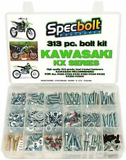 SPECBOLTS HUGE 313 pc Kawasaki Bolt Kit KX 60 65 85 100 125 250 500 FENDERS SEAT