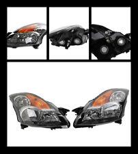 SAE  DOT  Headlights HeadLamps for 07 08 09  Nissan Altima CHROME HOUSING CLEAR