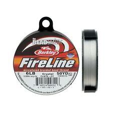 """Fireline XCR-1278 Crystal Braided Beading Thread, .006""""/50 yd Clear"""