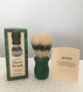 Van Der Hagen Surrey Natural 100% Boar Bristle Shave Brush Solid Pro Grade NEW