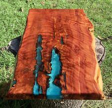 Handmade Live Edge Juniper (Cedar) Stump Wood Turquoise Accent Side Table Top