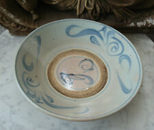 Antique CHINESE 18th C-1750 LARGE Celadon PLATE Charger BOWL #1