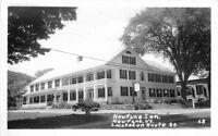 Auto 1940s NEWFANE VERMONT Inn Route 30 RPPC real Photo postcard 4585