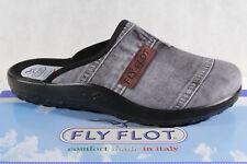 Fly Flot Herren Pantoffel Hausschuhe Jeansvelour grau 882092 NEU!!