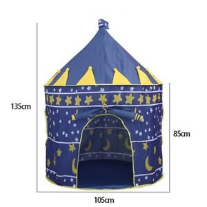 Play Tent Portable Foldable Tipi Prince Folding Tent Children Boy Cubby Play Hou