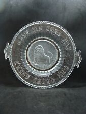 EAPG  Richards & Hartley Glass Co's Proud Lion Bread Plate