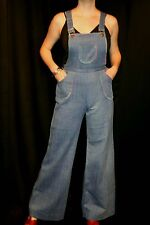 S NOS Blue Jeans Denim Vtg 70s SIDE KICKS Bib Suspender Overalls Jumper Jumpsuit