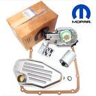 Genuine Mopar OEM 45RFE 545RFE 68RFE Shift Solenoid Block Pack w/ TRS Plate <br/> Plus 4WD Filters & Pan Gasket Service Kit 1999-Present