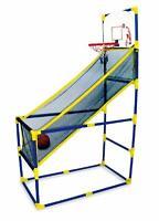 Childrens Indoor Outdoor Arcade Style Basketball Stand With Net Hoop Balls Pump
