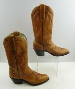 Ladies FRYE Brown Leather  Western Grunge Cowgirl Boots Size : 8 B
