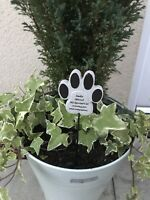 Cat Pet Memorial Tribute Plaque Stake Marker Spike Urn Remembrance Ornament