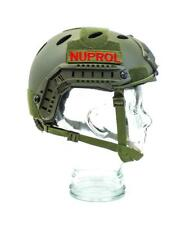 Nuprol Fast Railed Helmet Green Adjustable Army Style Airsoft Tactical Kit 6110