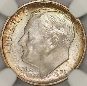 1952-S Roosevelt Dime NGC MS68