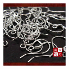 50PCs 925 Sterling Silver DIY Earring Hooks Ball Jewelry Accessory Ear Wire