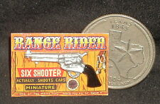 Range Rider Toy Cap Six Shooter Gun 1:12 Dollhouse Miniature Cowboy Child Boy