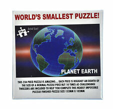 Worlds Smallest Jigsaw Puzzle Planet Earth Impossible micro 234pc with tweezer