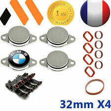 4x BOUCHONS CLAPET D'ADMISSION  32 MM BMW ++JOINTS E46 E90 E91 E92 E60  X3 X5