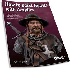 Andrea Press How to paint figures with acrylics Paperback Book Julio Cabos