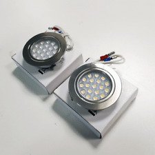 2 x RECESSED TOUCH CONTROL 12V LED SPOTLIGHTS - CHROME FINISH FOR CAMPERVAN