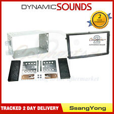 CT23SY02 Black Double Din Fascia Adapter Panel Ssangyong Rexton Ii 2006 - 2013